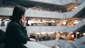 Woman looking away deep in thought, strongholds